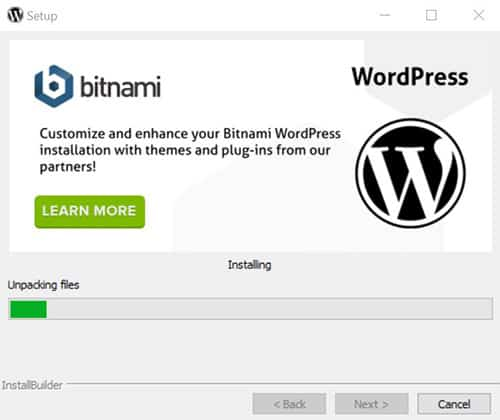 Installer WordPress en local Etape 8