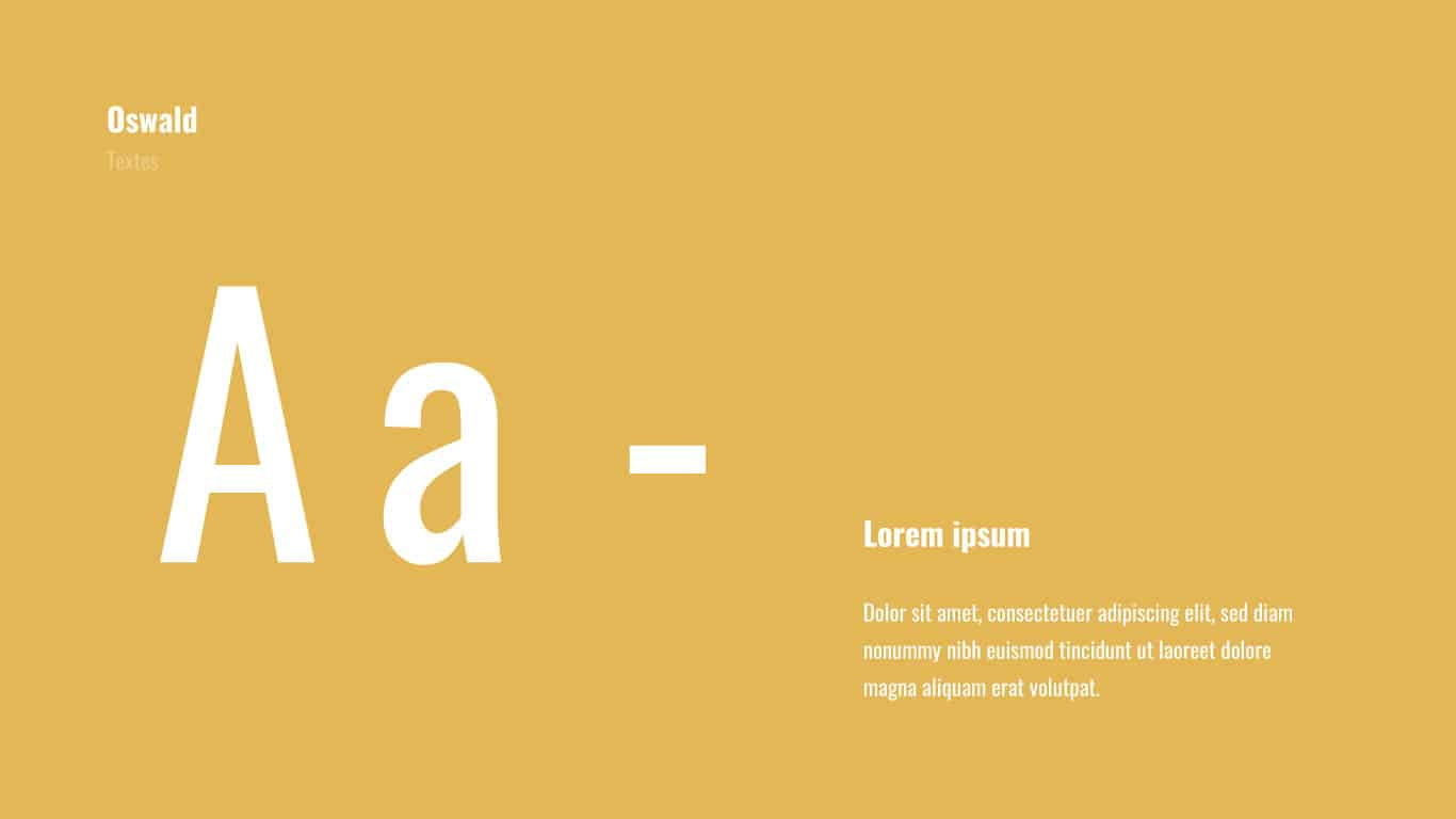Typographie Oswald Siclem