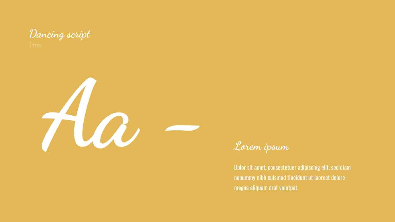 Typographie Dancing Script siclem