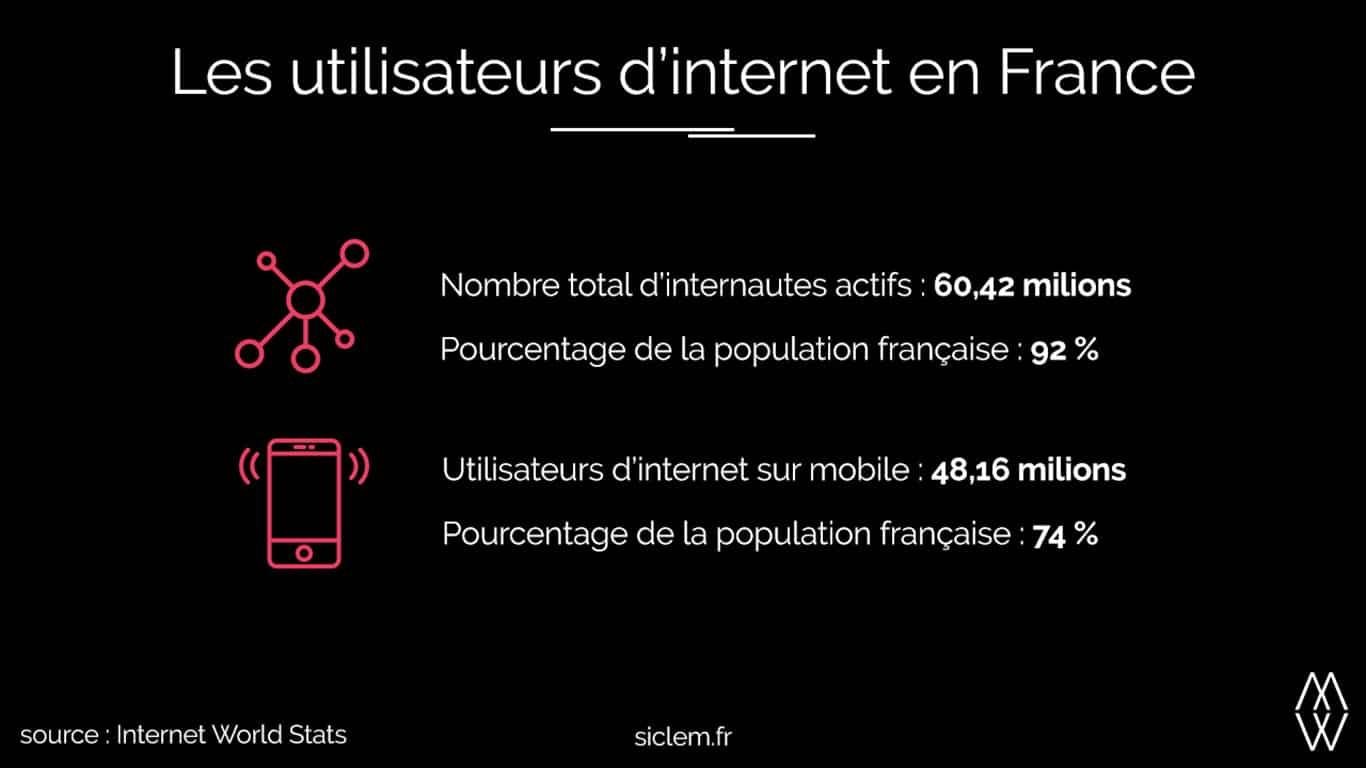 Infographie les utilisateurs d'internet en France siclem