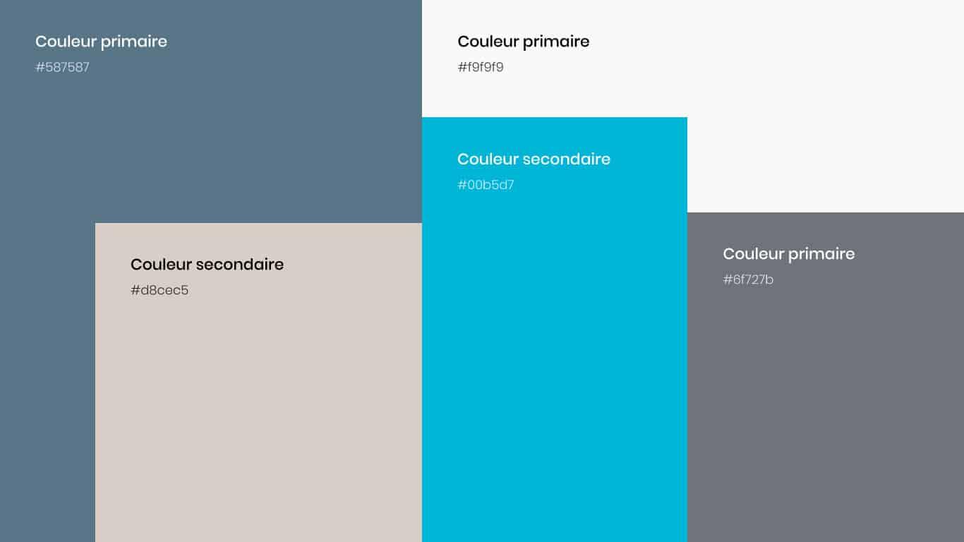 palette de couleur Blue 2.0