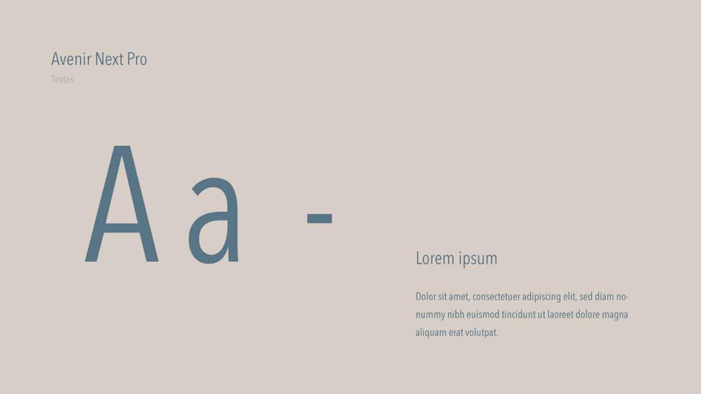 typographie Avenir next pro Blue 2.0