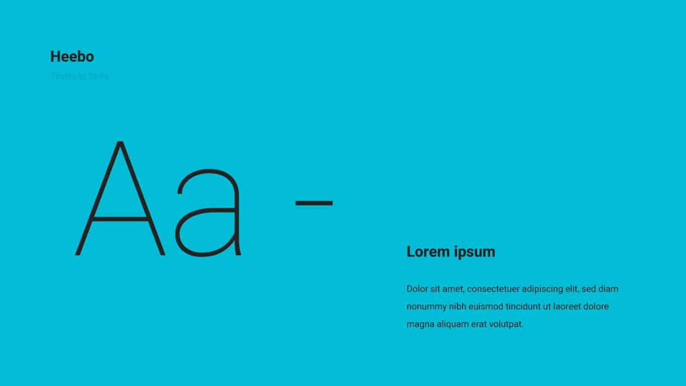 Typographie de LR Architectes
